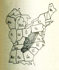 William Goodell Frost Appalachian America map 1896